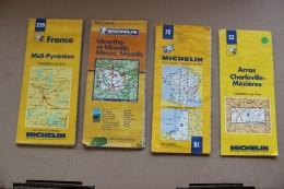 1 LOT DE16 CARTES ROUTIERE  MICHELIN  VOIR SCAN - Cartes Routières