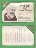Padre Pio Da Pietralcina Santino Con Medaglietta - Devotion Images
