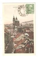 CPA PRAG Brückengasse U. Nikolauskira 1909  Colorisée   Peu Commune - Tchéquie