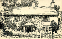MISCELLANEOUS ART - HAWKSHEAD - THE OLD SCHOOL HOUSE - P KYSTIE(?)-SMITH Art229 - Cumberland/ Westmorland