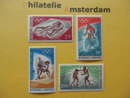Gabon 1968, OLYMPICS MEXICO  / ATHLETICS CYCLING JUDO BOXING: Mi 308-11, ** - Summer 1968: Mexico City