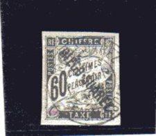 Diégo- Suarez _ 60c  Noir Chiffre Taxe Surchargé - N°12  (1892 ) - Oblitérés