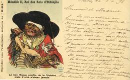 CPA (monarchie B11)  MENELIK II Rois Des Rois D Ethiopie (musee Des Souverains)n° IX - Familias Reales