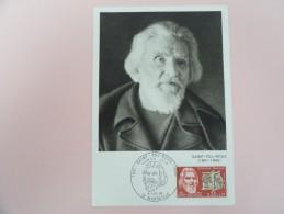 CARTE MAXIMUM CARD SAINT-POL-ROUX AVEC OPJ - 1960-69
