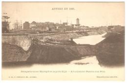 ANVERS  EN 1866   ---  Remparts Entre L' Entrepot Et La Porte Slijk --  Actuellement Bassins Aux Bois - Antwerpen