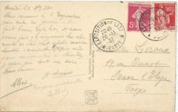 CARTE POSTALE AVEC CACHET EXPOSITION DE 1937 PARIS - Handstempel