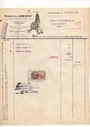 France Facture Produits Du Lion Noir à Montrouge Le 13 Janvier 1936 - 1900 – 1949