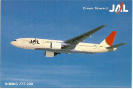 Boeing 747-200 De La Japan Air Lines, Carte Postale Neuve Non Circulée - 1946-....: Modern Era