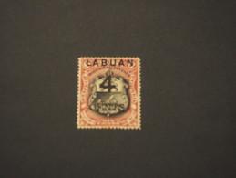 LABUAN - 1899 VEDUTA 4 Su 6, Soprast. NUOVO(+) - North Borneo (...-1963)