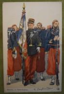 ZOUAVES - Porte-Drapeau - Belle Carte Aux Coloris Illustrée Par Maurice TOUSSAINT - Comme Neuve - Uniformes