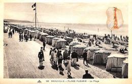 [DC2912] CPA - FRANCIA - DEAUVILLE - PLAGE FLEURIE LA PLAGE - Viaggiata - Old Postcard - Deauville