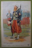 ZOUAVES - Sapeur - Garde Impériale (2e Empire) - Belle Carte Aux Coloris Illustrée Par Maurice TOUSSAINT - Comme Neuve - Uniformes