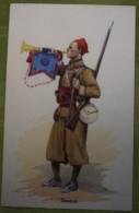 ZOUAVES - Belle Carte Aux Coloris Illustrée Par Edmond LAJOUX - Comme Neuve - Uniformi
