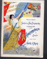 Plaquette Souvenir Des Fêtes Présidentielles D'AGEN Hommage à Fallières 1906 (dessin De Calbet) (PPP3220) - Programmes