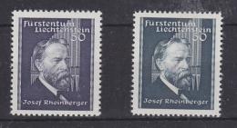 Liechtenstein 1938 + 1939 Josef Rheinberger 2v ** Mnh (30276) - Liechtenstein
