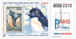 TAAF 2016 Mih. 933 Fauna. Rockhopper. Stamp On Stamp MNH ** - Französische Süd- Und Antarktisgebiete (TAAF)