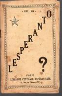 Petite Plaquette ESPERANTO Juin 1934 (PPP3222) - Livres, BD, Revues