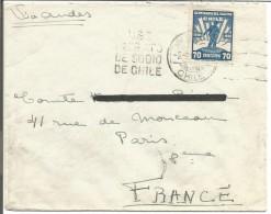 CHILI LETTRE DE VALPARAISO POUR LA FRANCE VIA ANDES 1931 - Chili