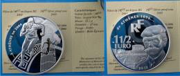 FRANCE 1,5 E 2003 ARGENTO PROOF FRANCE EURO PIERRE DECUBERTIN ATHTLETICS ATHENS 2004 PESO 22,2g TITOLO 0,900 - France