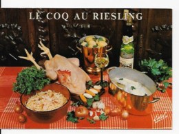 CPSM Le Coq  Au Riesling - Recipes (cooking)