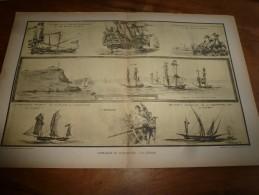 Guerre Navale Illustrée Par Albert Sébille  CORSAIRES (Surcouf,Jean Bart) Et FLIBUSTIERS (dim. Document = 50cm X 33cm - Barcos
