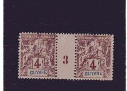 Guyane - Française _ Millésimes  - N°31  (1893 )