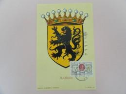 CARTE MAXIMUM CARD FLANDRE AVEC CACHET ORDINAIRE - 1960-69