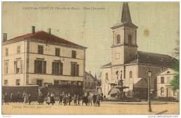 CIREY  - Sur - VEZOUZE,,,,  PLACE CHEVAUCIER,,,,,,, COLORISEE,,,, VOYAGE  1912,,,BE,,,,    Rare,,,, - Cirey Sur Vezouze