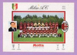 Foto Su Cartoncino Milan A. C. 1992/1993 - Calcio
