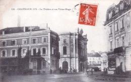 36 - Chateauroux -  Le Theatre Et Rue Victor Hugo - Chateauroux