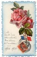 CPA   - Carte Avec Ajoutis - Roses - Voeux Année 1915 - Patriotique - Otros