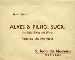 S. JOÃO Da MADEIRA - Fábrica UNIVERSO - ALVES & FILHO, SUCR. - ENVELOPE COMERCIAL - ADVERTISING - PORTUGAL - Portugal
