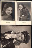 2 CARTES PHOTO ARGENTIQUE ET UNE GRAND PHOTO MARIKA ROKK Actrice Cinema Film Germany - Schauspieler
