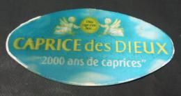 """Etiquette Couvercle Fromage CAPRICE DES DIEUX Holographique """"2000 Ans De Caprices"""" - 300g - Fromage"""