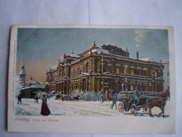 Leipzig - Litho // Börse Im Winter/  // Ca 1900 - Leipzig