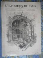 L' EXPOSITION DE PARIS 1889 ECHAFAUDAGE DOME PALAIS BEAUX ARTS SCULPTURE TOUR EIFFEL CHAMP DE MARS - Zeitungen