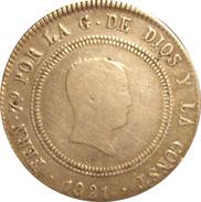 ESPAÑA. FERNANDO VII. 10 REALES 1.821. MADRID. ESCASA. SPAIN. ESPAGNE - [ 1] …-1931 : Reino