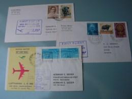 == India 3 Lufhansa Cv. Flights  Aprx. 1963  By Sieger - Indien
