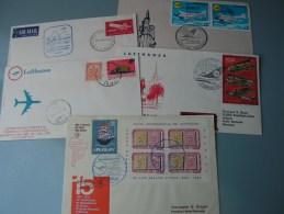 ==  5 Lufhansa Cv. Flights  Aprx. 1963  By Sieger - Briefmarken