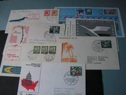 == 7  Lufhansa Cv. Flight  Aprx. 1963  By Sieger - Briefmarken