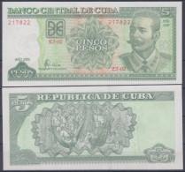 2006-BK-10 CUBA 5$ ANTONIO MACEO UNC - Cuba