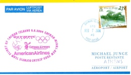 Vol équipe Cayman - Cayman Airways / Olympic Airways / American Airlines - Cayman Miami New York Athènes 8/8/2004 - Ete 2004: Athènes