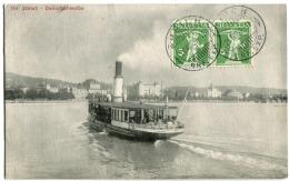 """Zürich Dampfschwalbe Mit Dampf Stempel """"FRANKATUR Siehe Rückseite Affranchissement Au Verso"""" 1909 - ZH Zürich"""