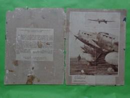 Protege Cahier Avion Trimoteur Arc En Ciel- - Buvards, Protège-cahiers Illustrés