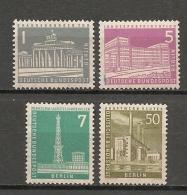 GERMANY - 1956/63 BERLIN - Yvert # 125-126-127-133  - (# 127-133 MINT Light Trace Of Hinge) - # 125-126 MNH - Berlin (West)
