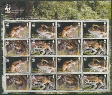 Montserrat 2006 WWF Antillen-Ochsenfrosch 1335/38 ZD-Bogen Postfrisch (SG12236) - Montserrat