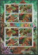 Nevis 2007 WWF Naturschutz Regenbogen-Papageifisch 2208/11 K Postfrisch (C12239) - Briefmarken