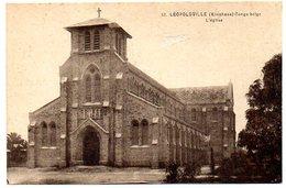 CPA CONGO BELGE  ( Afrique )  LEOPOLDVILLE ( KINSHASA ) - L'Eglise - Kinshasa - Léopoldville