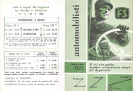 """04418 """"ITALIA-FERROVIE DELLO STATO-TRENI NAVETTA TRA PONTRENOLI E BORGO VAL DI TARO-FORNOVO E AULLA-ORARI-COSTI 1969"""" - Europe"""