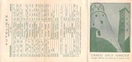 """04419 """"ITALIA - PIEMONTE - ORARIO DELLE FERROVIE - E DELLE AUTOLINEE - 1951""""OMAGGIO ENTE PROV. TURISMO ASTI - Europa"""
